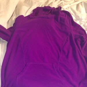 Lane Bryant-LB Active fleece pullover with hood.